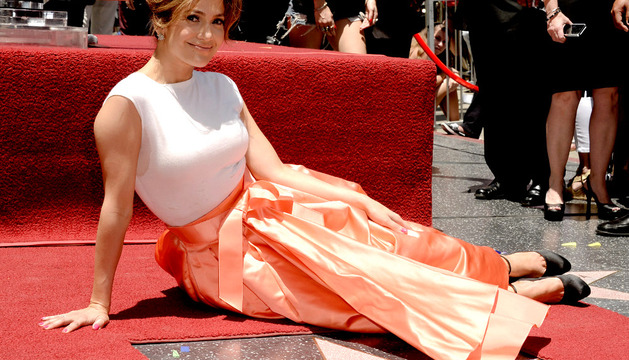 Jennifer López tras recibir su estrella