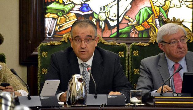 Maya, junto a Ignacio Polo, en el Debate del Estado de la Ciudad.