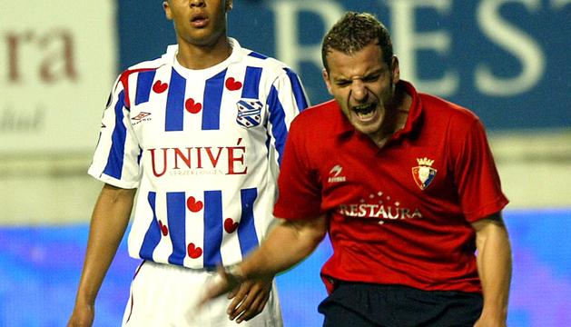 Soldado, en el partido de la UEFA contra el Heerenveen de 2007