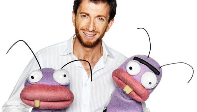Pablo Motos junto a Trancas y Barrancas, protagonistas de 'El Hormiguero'.