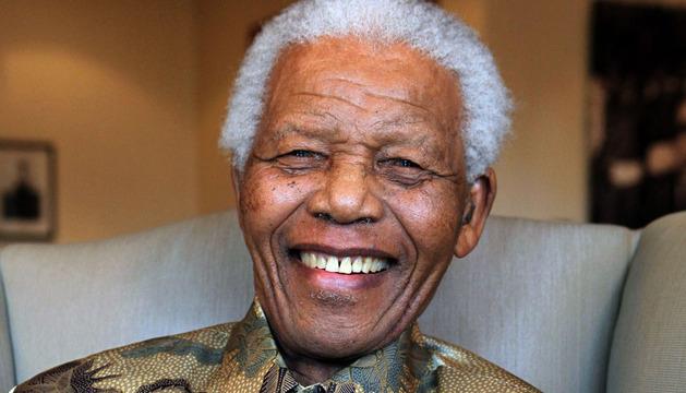 Imagen de archivo del expresidente sudáfricano Nelson Mandela