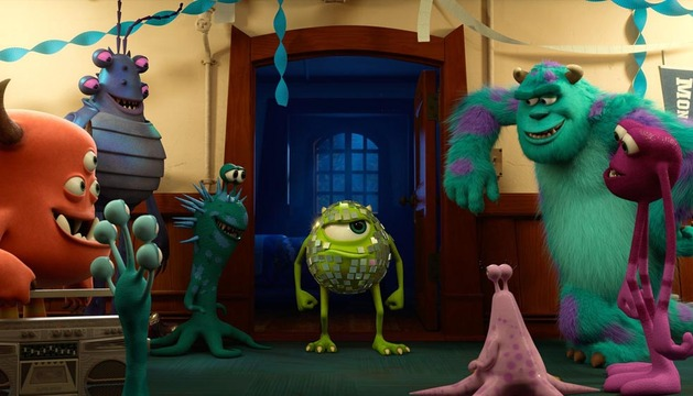 Escena de Monsters University