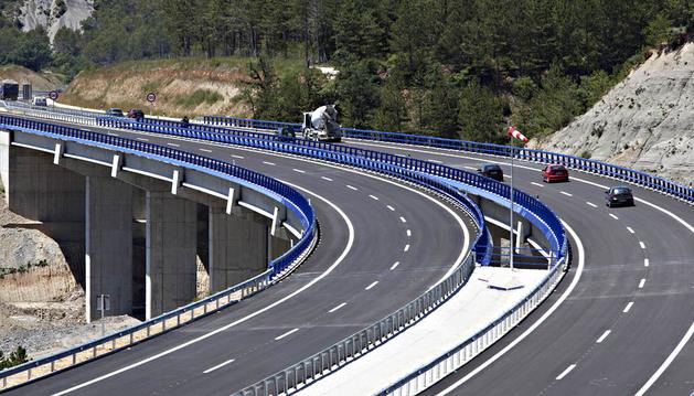 Imagen del nuevo tramo de la Autovía del Pirineo inaugurado este lunes