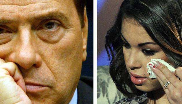 Silvio Berlusconi y la joven marroquí Karima El Marough, conocida como Ruby