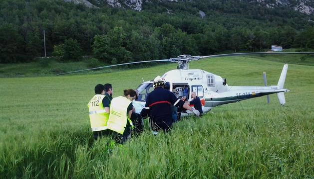 Rescate de los dos montañeros accidentados