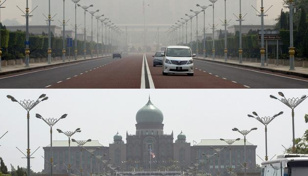 Edificio presidencial en Putrajaya.