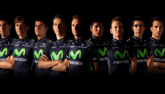 Los nueve integrantes del Movistar Team para el Tour