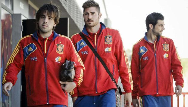 Beñat (izda), en una convocatoria con la selección española