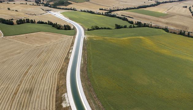 Vista del Canal de Navarra.