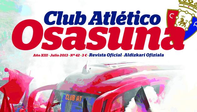 Portada del nuevo ejemplar de la revista oficial de Osasuna