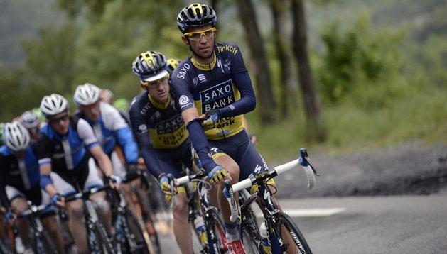 Alberto Contador, durante la Dauphine Libere