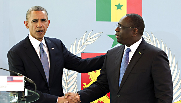El presidente de Estados Unidos, Barack Obama, y el presidente de Senegal, Macky Sall, este jueves en Dakar