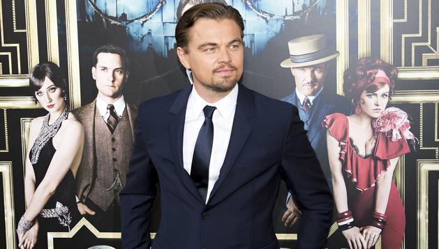 Leonardo DiCaprio durante el estreno de la película