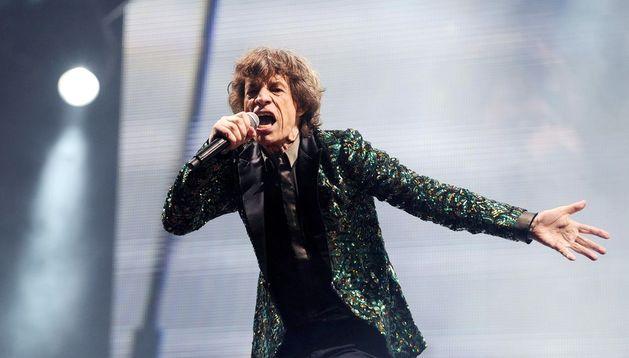Mick Jagger durante el concierto.