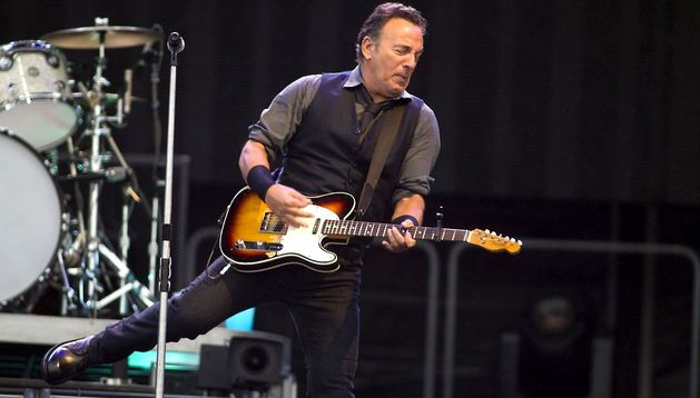 Bruce Springsteen durante un concierto.