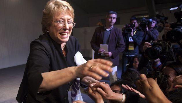 La candidata presidencial Michelle Bachelet.