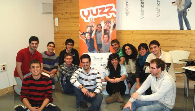 Participantes de la fase navarra del programa Yuzz.
