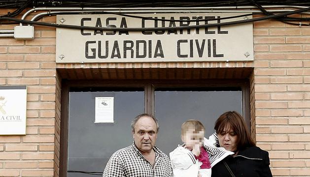 El etarra arrepentido Valentín Lasarte, en el cuartel de la Guardia Civil de Lodosa el pasado 17 de mayo.