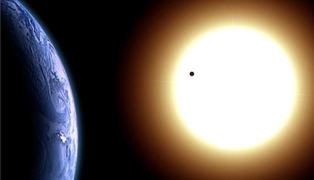 Imagen de la Tierra y el Sol.