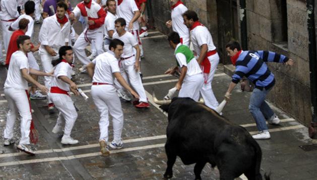 Momentos del encierro del 7 de julio de 2012