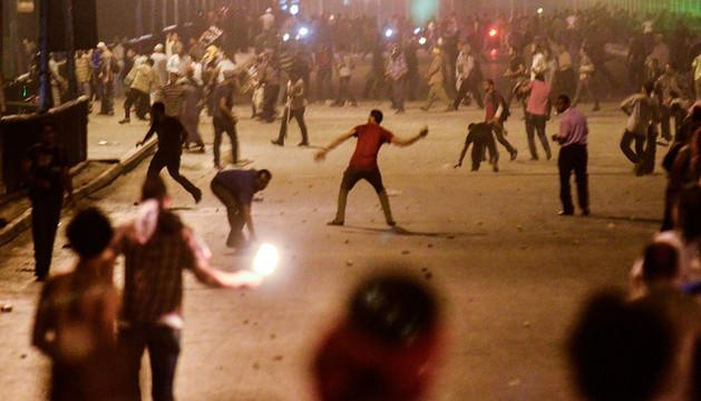 Enfrentamientos entre partidarios y detractores de Mursi de este viernes