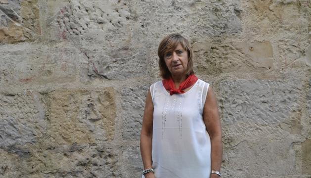Mariví Esparza, en la cuesta de Santo Domingo.
