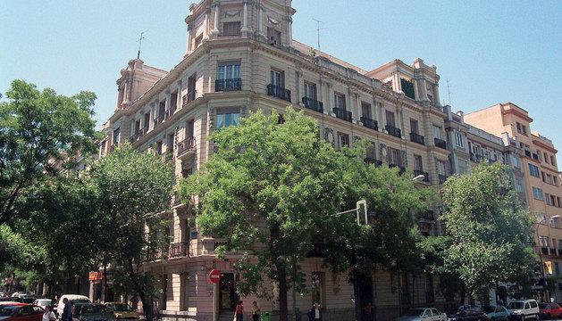 Edificio de la calle Goya donde se ubica la Delegación del Gobierno de Navarra en Madrid.