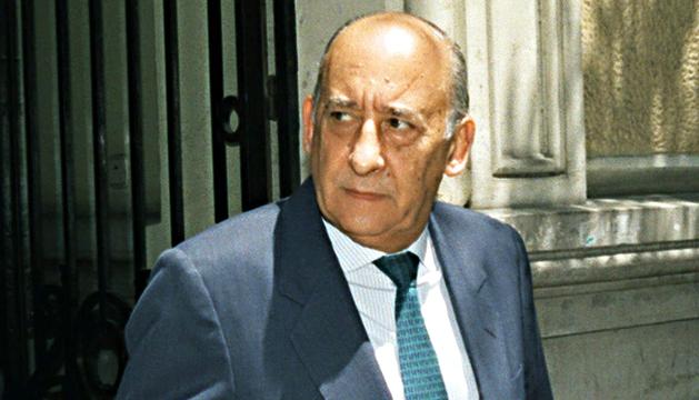 Fotografía de archivo (Madrid, 09/06/1997) del exdirector del Centro Superior de Información de la Defensa (CESID) Emilio Alonso Manglano