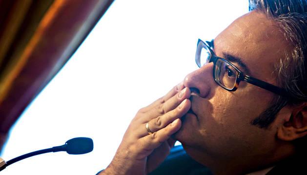 El escritor Juan Manuel de Prada posa en la Universidad Internacional Menéndez Pelayo de Santander,