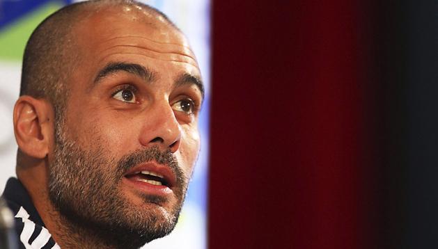 El entrenador del Bayern de Múnich, el español Josep