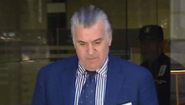 Luis Bárcenas, a la salida de la Audiencia Nacional el 15 de junio.