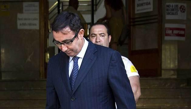 Diego Torres, a la salida de los juzgados de Palma de Mallorca.