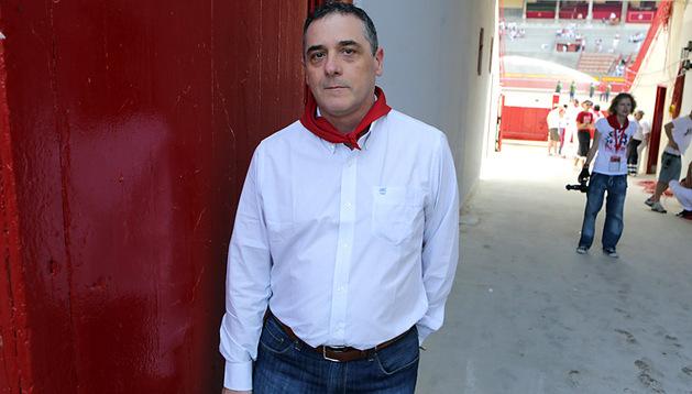 Ángel Hidalgo, ayer por la tarde, poco antes del comienzo de la corrida de toros