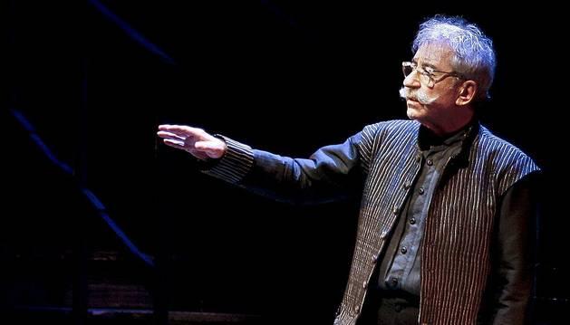 El actor José Sacristán, durante la representación de la obra