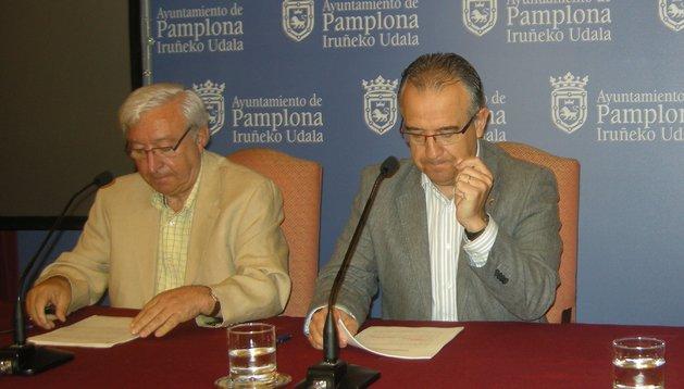 Ignacio Polo y Enrique Maya en la rueda de prensa