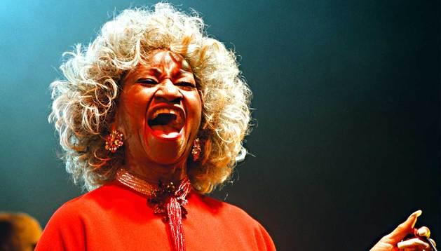 La cantante Celia Cruz.