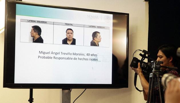 Rueda de prensa en la que se dieron a conocer los detalles de la operación en la que se detuvo a Treviño.