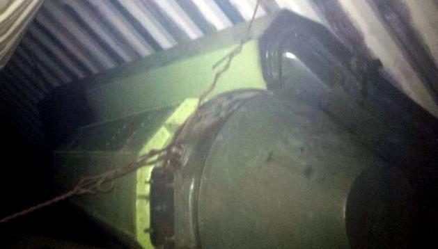 Fotografía del Twitter del presidente de Panamá en la que se muestra el cargamento del barco.