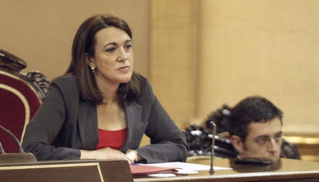 Alfredo Pérez Rubalcaba, durante la reunión del grupo socialista del Senado de este martes