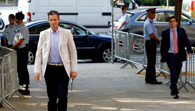 Iñaki Urdangarín a su llegada a los Juzgados de Barcelona