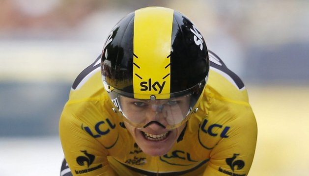 Chris Froome ha sido el ganador de la contrarreloj por delante de Alberto Contador