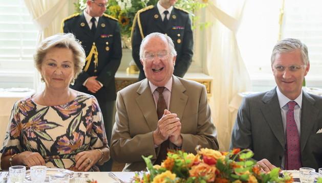 Los reyes de Bélgica Alberto II y Paola
