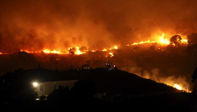Incendio forestal declarado en almorox