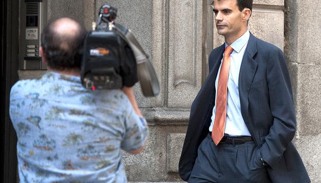El juez Bárcenas abandona los juzgados este martes.