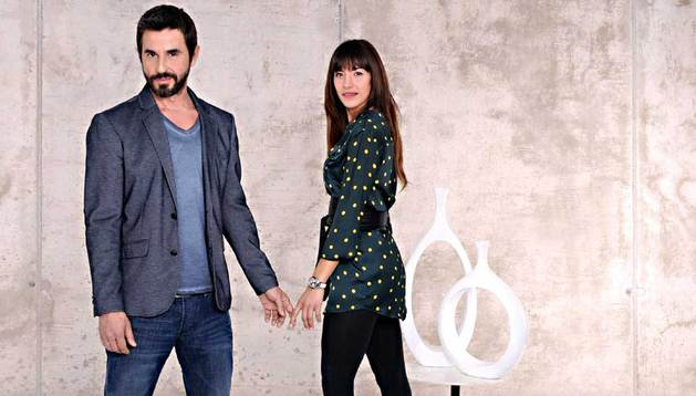 Santi Millán y Ruth Núñez, actores de la serie