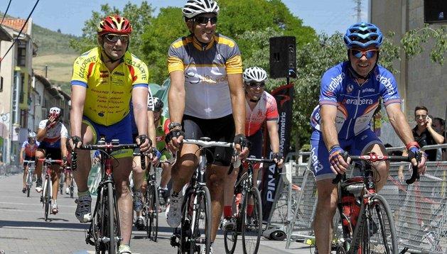 Miguel Induráin ha participado en la prueba cicloturista que lleva su nombre