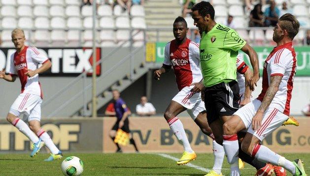 Manu Onwu, durante el partido ante el Ajax