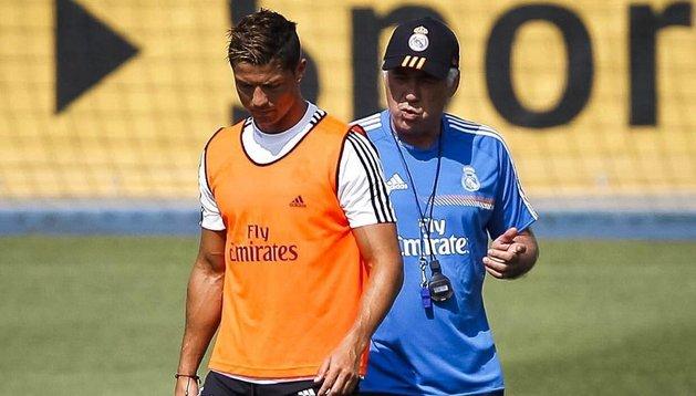 Carlo Ancelotti, Cristiano Ronaldo, entrenamiento, Real Madrid