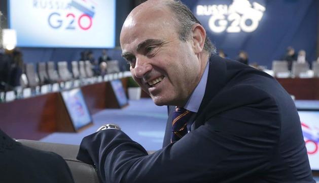Luis de Guindos, durante la cumbre del G20 en Moscú