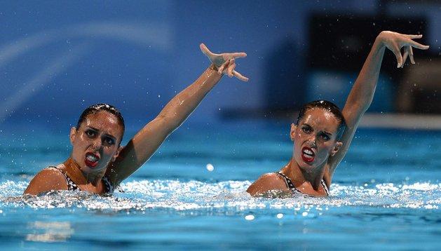 Marga Crespí y Ona Carbonell, durante su actuación